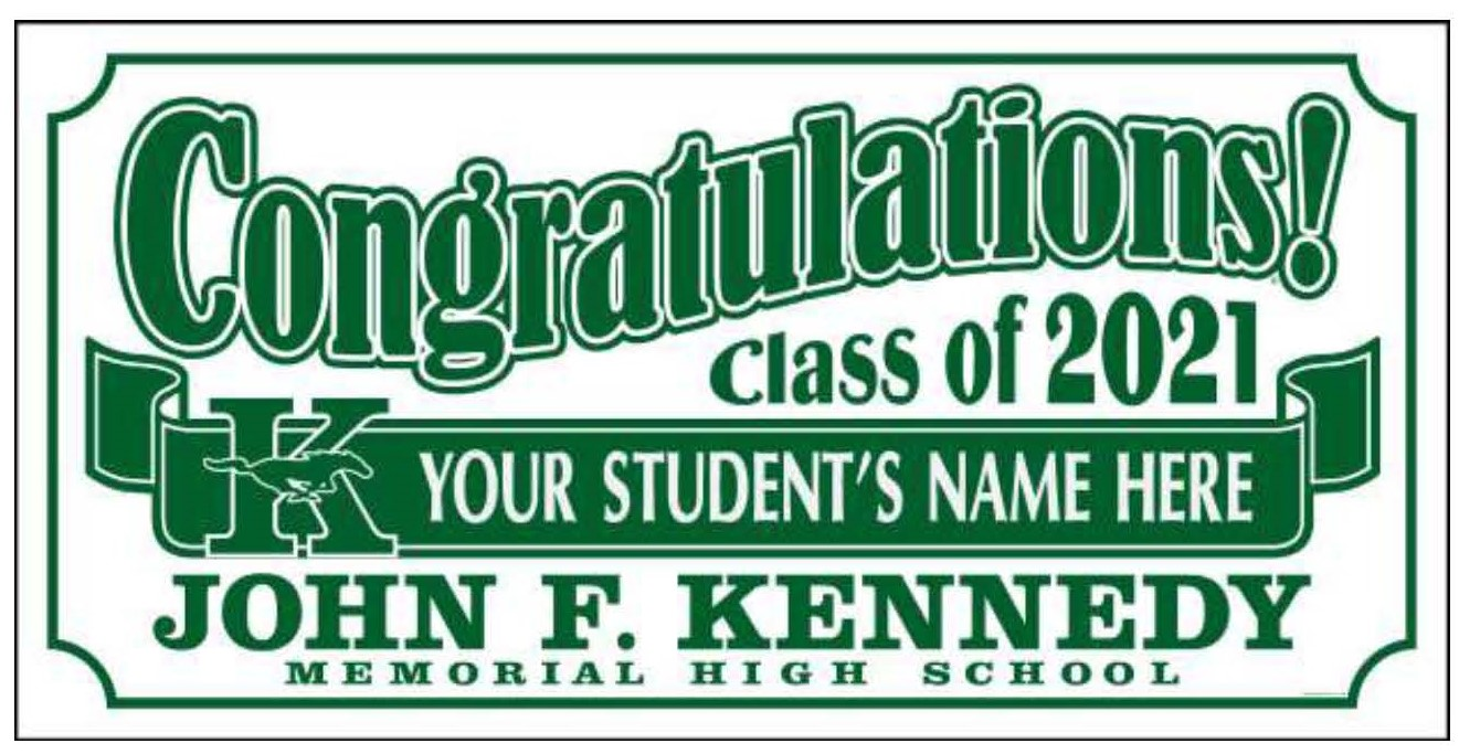 Class of 2021 Lawnsign
