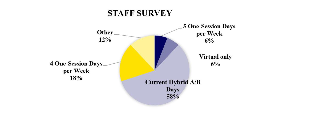 staff survey results pie chart